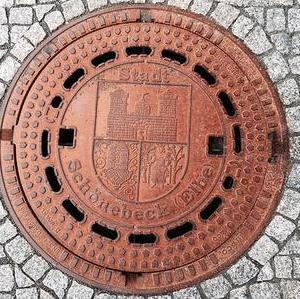 Kanaldeckel Deutschland Schönebeck