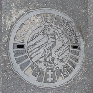 Kanaldeckel Polen Danzig