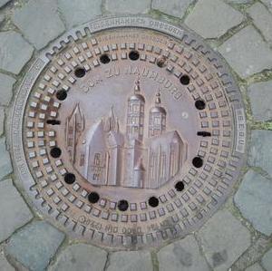 Kanaldeckel Deutschland Naumburg Dom
