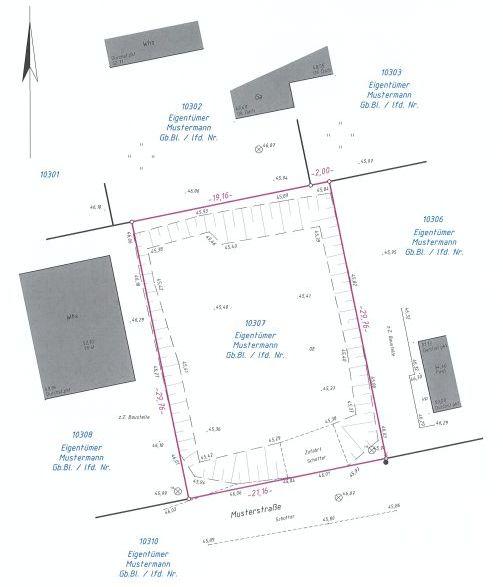 vermessungsb ro hartmann magdeburg leistungen bauvermessung lageplan zum bauantrag. Black Bedroom Furniture Sets. Home Design Ideas